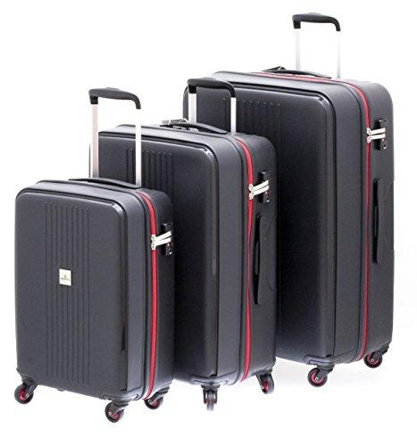 1 valise ultra-résistante cadenas TSA petit modèle DAVIDT'S TRITON BLACK 55 cm