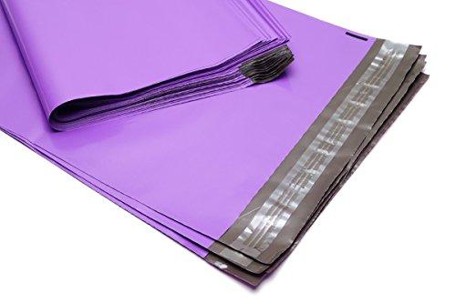 100 Folienmailer® Versandbeutel Violett 360 x 500 mm: Bunte Versandtaschen aus LDPE Coex Folie, selbstklebend und undurchsichtig, Versandtüten aus Plastik perfekt zum Versand von Kleidung und Textilien