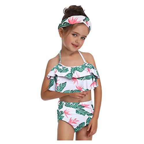 Damen Bikini Rosennie Damen Mädchen High Waist Bademode Zweiteilige Outfits Swimsuit Bademode...