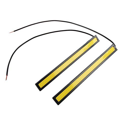 WOVELOT 2 Pieces x 84 LED Lumieres decoratives de voiture ultra brillant Lumiere LED COB de la Voiture DRL Lumiere Brouillard Lumiere de Conduite Lampe a haute puissance decorative impermeable 12V 6W-