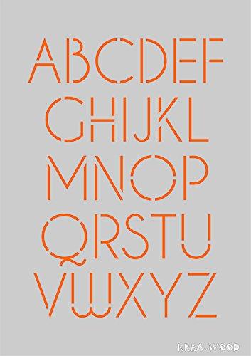 Schablone für Heimwerker Projekte und große Buchstaben Design (Buchstaben Schablonen Für T-shirts)