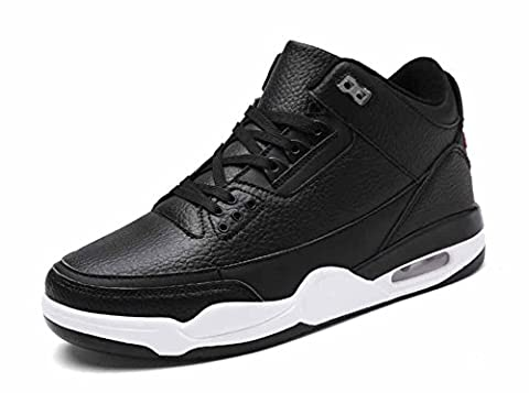 Hommes Basketball Sneakers 2017 Automne Nouvelle coussin Coussin Outdoor Trainers Chaussures de course Grande taille ( Color : Black , Size : 41 )