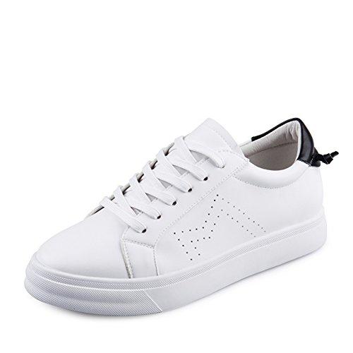 l'automne dames chaussures occasionnelles/Ladies et couleurs mélangées plats/Chaussures blanc petit ronds A