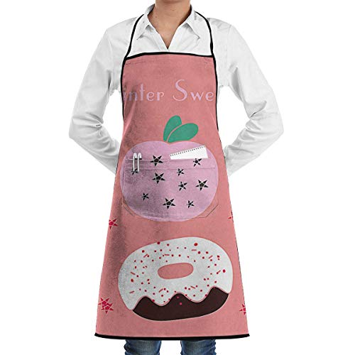 buy apron Christmas Cupcakes Icons Aprons Bib for Mens Womens Vintage Lace Adjustable Adult Kitchen Waiter Schürzen mit - Adult Cupcake Kostüm