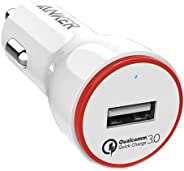 Anker PowerDrive+ 1 24W Car Charger with 1-Port QC 3.0 with Anker 3ft micro USB Cable White - B2210H21