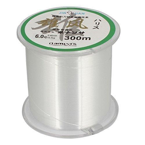Hilo De Nylon Sedal Carrete 6.0# 15,4 Kg 0.40mm Dia M 299,9 Transparente