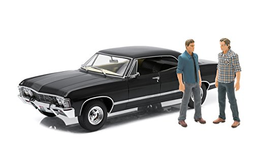 Supernatural 1967 Chevrolet Impala Sport Sedan 1:18 Scale Die-Cast Metal Vehicle With Sam And Dean Figures (1 18 Scale Diecast Greenlight)