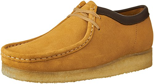 Clarks Originals Wallabee Oxford en cuir de hommes Camel Suede