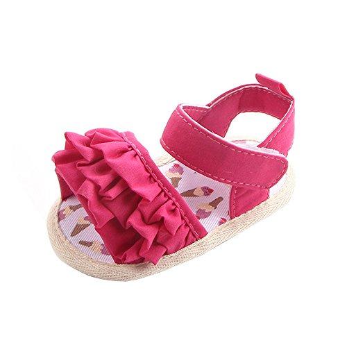 zapatos bebe primeros pasos, Switchali Recién nacido bebe niña verano Floral Suela blanda princesa Zapatillas ninos vestir casual Sandalias zapatos deportivos barato (12 (6~12meses), Rosa Fuerte)