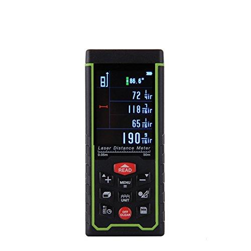 Preisvergleich Produktbild HimanJie Professional Laser Entfernungsmesser Aufladbar RZ-AS Fläche Volumen Laser Distanzmessgerät Range Finder(RZ-AS50)