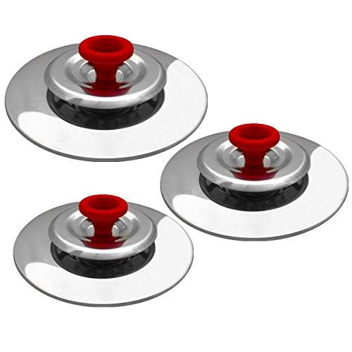 3 Coperchi Magici Antiodore Cooker Ventur Magic in Acciaio Inox 26, 30, 34 Cm