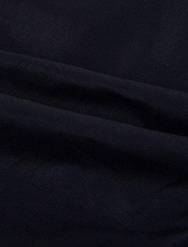 Allegra K Hommes Cordon Taille Élastique Centre-ville Performance Pantalon Survêtement Noir