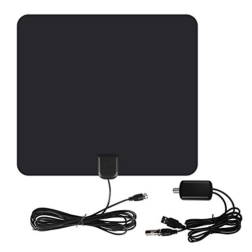 Booster Tv-signal Antenne (TV-Antenne 50 Meilen Reichweite 1080P Indoor Digital HD-TV-Antenne mit USB Powered abnehmbare Verstärker Signal Booster 13FT lange Kabel für freie Kanäle und analoge TV-Signale)