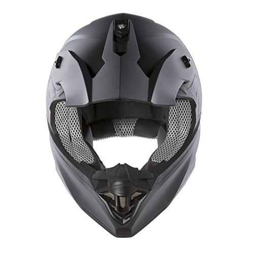 Panthera Moto Cross FS607 - Casco moto, Nero Opaco, M