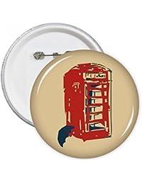 DIYthinker Regalo Botón Cabina de teléfono paraguas de lluvia de la ropa pernos Placa decoración 5pcs