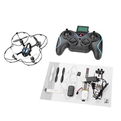 BlueBeach JJRC H6C 2,4 GHz 6-Achsen Gyro Quadcopter mit 2.0MP HD Kamera und LCD-Monitor Sender (2GB TF-Karte und Kartenleser enthalten) (Blau) - 5