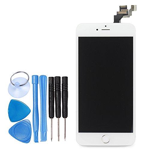 LL TRADER für iPhone 6 Plus Weiß LCD - Touchscreen-Display Digitales-Glasobjektiv Reparaturset(einschließlich Werkzeug Kamera und Home Button) Plus Digital Display