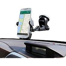 Soporte Móvil Coche, BinKe Soporte de Coche para Parabrisas y Salpicadero con Ventosa Giro 360 Grados Para Teléfonos Móviles para iPhone X/8Plus,Samsung s8,Huawei,y Otros Movíles Inteligentes