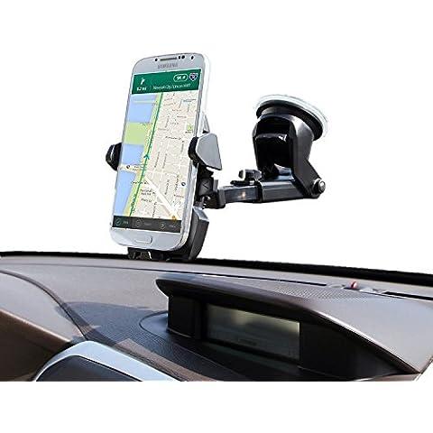 Supporto Auto per Smartphone, InnoMagi Universale Culla Regolabile per Cruscotto Dashboard Parabrezza, Porta Cellulare con Forte Sticky, Gel Pad per iPhone,Samsung, Sony, Huawei, Xiaomi,Navigatori da