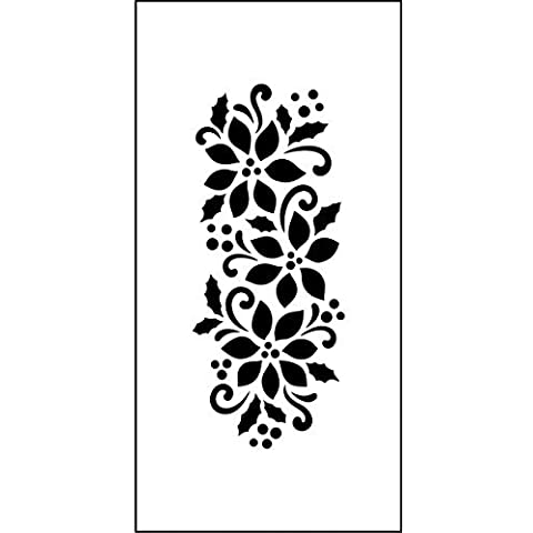 Magenta TM122 Poinsettia Border Stencil, 2 by