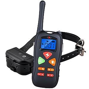 Collier de dressage électrique rechargeable télécommandé sans fil avec écran LCD à portée de 500 mètres pour Chien - Vendu Par Enledy