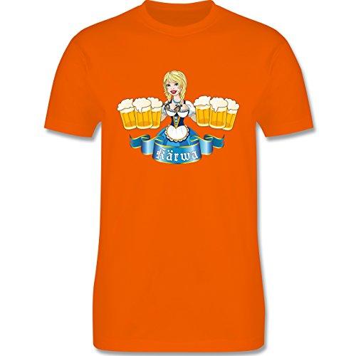 Oktoberfest Herren - Kärwa Mädel - Herren Premium T-Shirt Orange