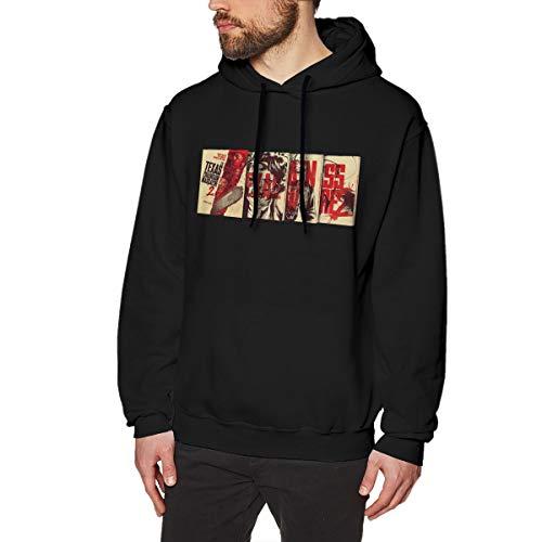 Harrisontdavison Herren Baumwolle Graphic Hoody Lustig Cool Texas Chainsaw Massacre Black Langärmliges Sweatshirt 3XL -