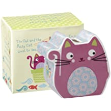 Churchill Little Rhymes Owl and the Pussycat - Hucha infantil con caja de regalo (porcelana), diseño de gato, color morado