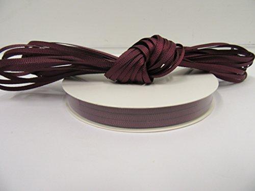 Beautiful Ribbon 1 Rolle Ripsband 3mm x 50 Meter Burgund Wein Rotwein beidseitig gewellte Grosgrain 3 mm