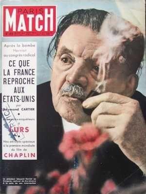 PARIS MATCH [No 189] du 25/10/1952 - AFFAIRE DOMINICI ALBERT SCHWEITZER ANDREY NIJINSKY ANGLETERRE - GRANDE BRETAGNE- POLITIQUE EXTERIEURE BOMBE ATOMIQUE ET BOMBE H CHARLIE CHAPLIN (CHARLOT) CLAIRE BLOOM CRIMES DOCTEUR PENNEY EDOUARD HERRIOT ELECTRICITE ETATS UNIS D'AMERIQUE - SUJETS DIVERS EUROPE OCCIDENTALE GENE TIERNEY GUERRE D'INDOCHINE ET POLITIQUE EN INDOCHINE JEAN GIRAUDOUX LE ROI FAROUK LINDA DARNELL LISE HARTEL MARECHAL JUIN MARGARET D'angleterre MEDECINE LE CANCER MICHELE MORGAN NARRIM par COLLECTIF