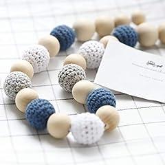 Idea Regalo - Mamimami Home perline di legno Dentaruolo crochet del bambino collana mamma dentizione collana da portare per l'allattamento teether del bambino Giocattoli
