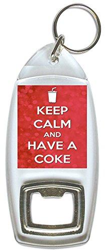 Keep Calm and Have a Coke–Flaschenöffner - Schlüsselanhänger Cola Flaschenöffner Coca