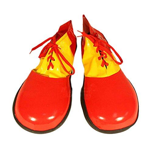LUOEM Zapatos Payaso Halloween Boots Dress Unisex