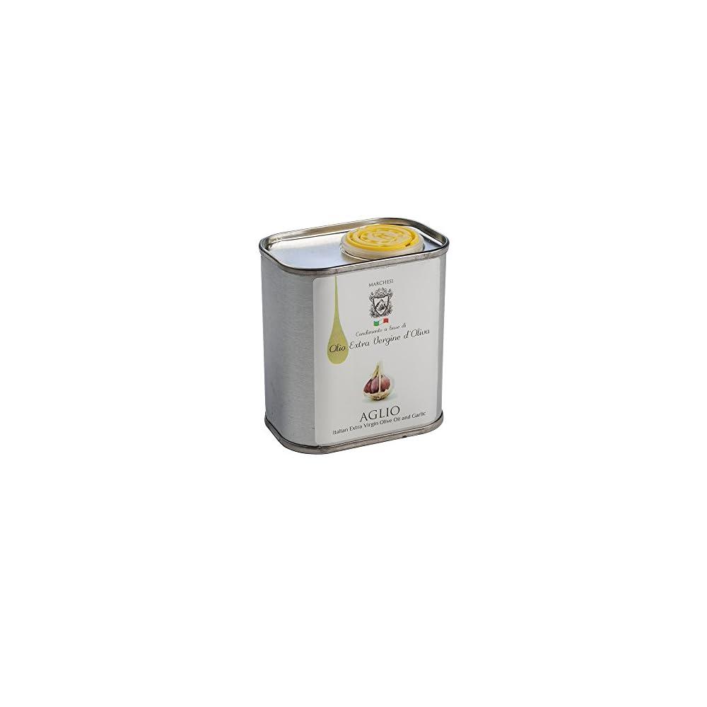 Italienisches Olivenl Mit Knoblauch Aromatisiert Aglio Olio Extra Vergine D Oliva