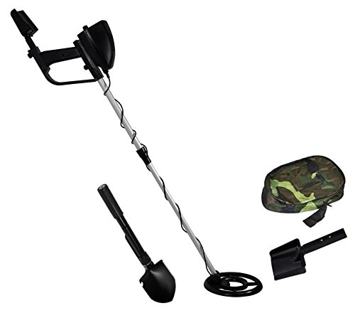Terratek Lightweight Discriminating Metal Detector, Waterproof Coil, Adjustable Stem & Shovel