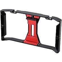 Andoer Ulanzi Hand Handy Film-Herstellung Rig Griff Stabilisator Halterung Halter Cradle Telefonclip Zwei Heiße Schuh-Halterung für iPhone 7 / 7s / 6s / 6 für Samsung Huawei