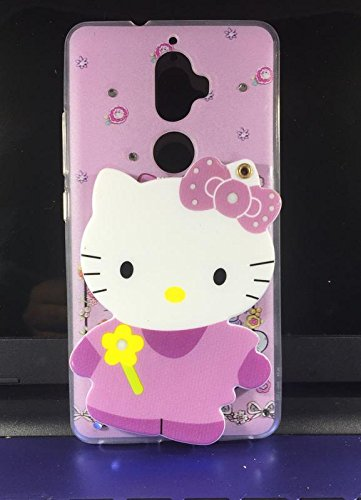 the latest e2c86 39e66 Dream2Cool Mirror Hello Kitty Designer Case Back Cover for Lenovo K8 Plus  [Mix Colour]