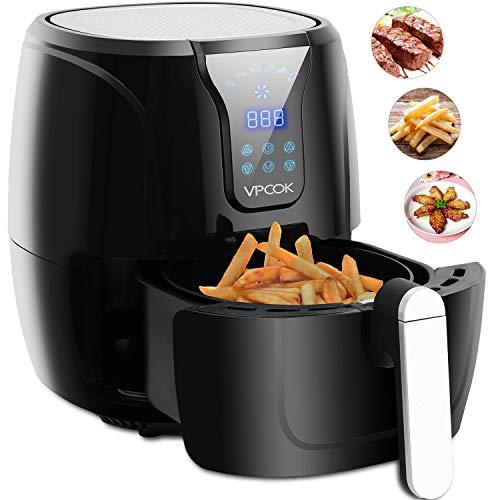 Friggitrice ad aria vpcok friggitrice senza olio 1300w, elettrodomestici power airfryer per cucina con lcd, friggitrice aria calda air fryer a vapore per cottura,tostatura,grill