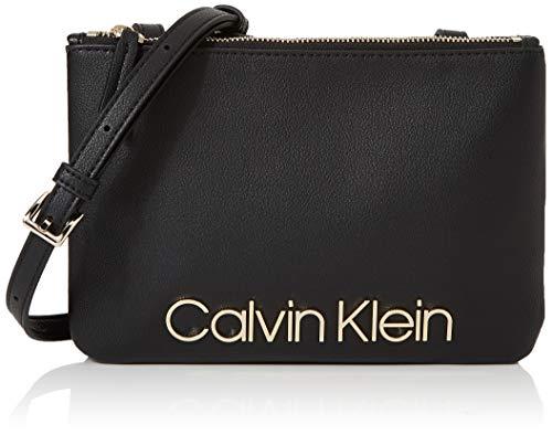 Calvin Klein Damen Ck Must Crossover Umhängetasche, Schwarz (Black), 5x16x24 cm