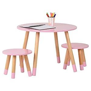 Hartleys Tisch- und Stuhlset in Rosa für Kinder