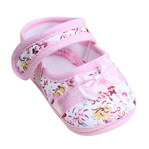 Xiangze Moda infantil niña caminar zapatos Bowknot Floral algodón cuna zapato 3-12Meses...