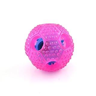 VANSENG Haustiere Spielzeug Ball Interaktive Reinigung Training Hund Kauen Essen Ball Alternative zu Bowl Feeding (Pink)