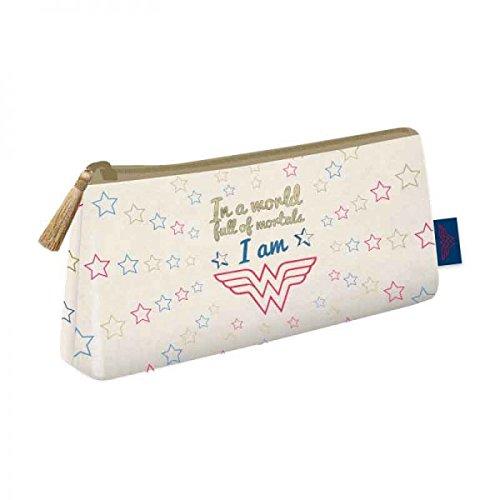 Wonder Woman Cosmetic Bag Stars Half Moon Borse