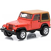1995 Jeep Wrangler Rio Grande Orange All Terrain Series 3 1/64 by Greenlight 35030 C by Jeep