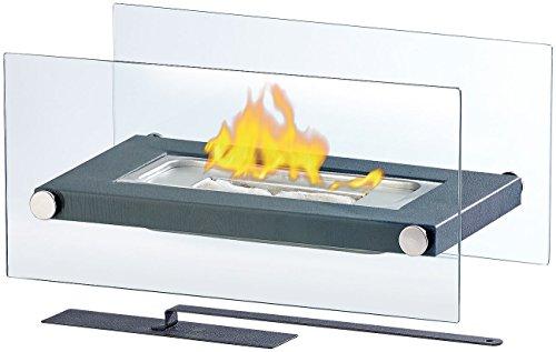 *Carlo Milano Lounge Feuer: Gläserner Tischkamin für Bio-Ethanol (Ethanol-Kamin als Alternative zum Gelkamin)*