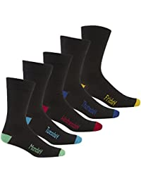 Pierre Roche Mens Coloured Heel & Toe Days Of The Week Socks 6-11