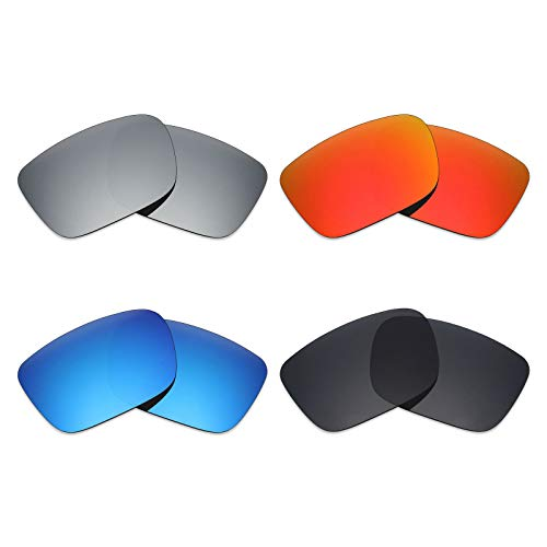 Mryok polarisierte Ersatzgläser für Spionagehelme Sonnenbrillen - Stealth Black/Fire Red/Ice Blue/Silver Titanium