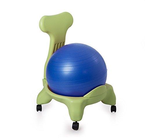 Kikka active chair verde con palla blu - sedia ergonomica con pallone gonfiabile