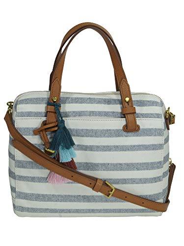 Fossil Damen Handtasche Tasche Henkeltasche Rachel Satchel Weiß ZB7714-566 - Handtaschen Damen-fossil
