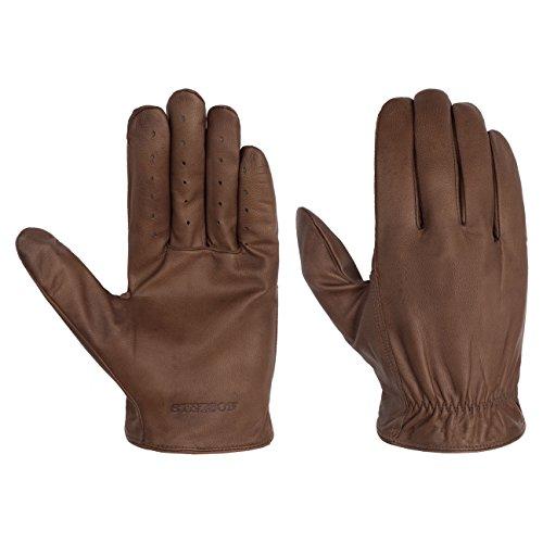 Stetson Goat-Nappa Lederhandschuhe Handschuhe Herrenhandschuhe Fingerhandschuhe Herren   Herbst-Winter   10 HS dunkelbraun